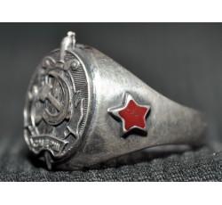 Кольцо серебряное СМЕРШ