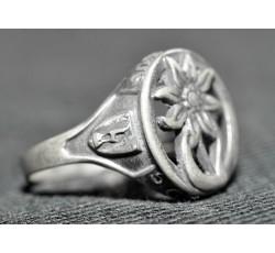 Кольцо с изображением Эдельвейса, реплика