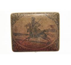 Серебряный портсигар с казаком