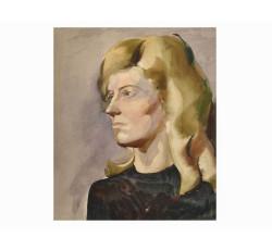 Женский портрет акварелью. Чеверева. И.М.
