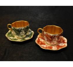 Пара кофейных чашечек - английский фарфор