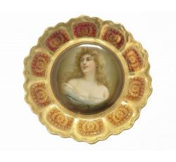 Расписная фарфоровая тарелка. Royal Vienna