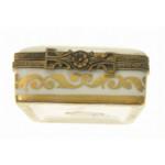 Фарфоровый расписной ларец для кольца