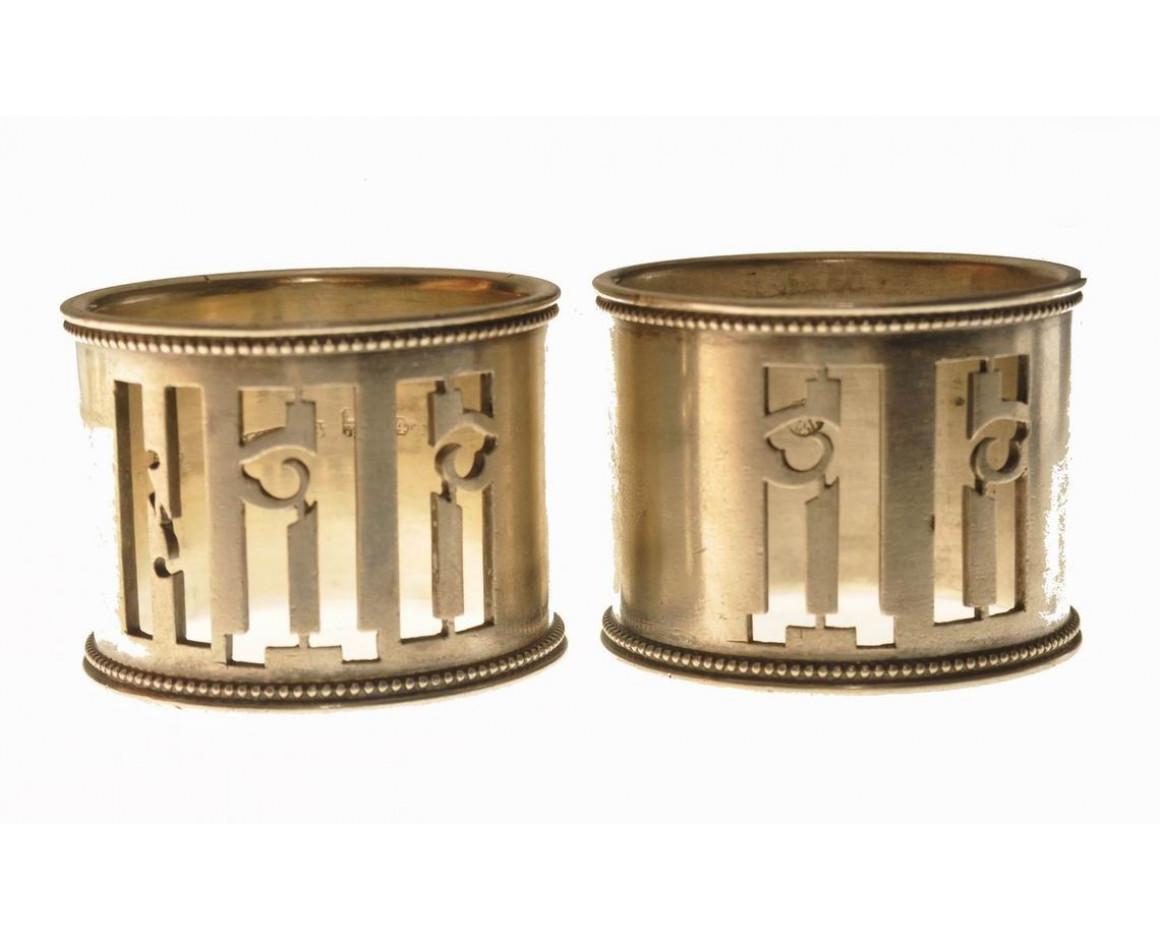 Два старинных кольца под салфетки, Хлебниковъ