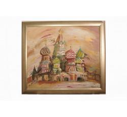 Картина с Покровским собором.